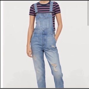 H&M Divided distressed overalls size 6